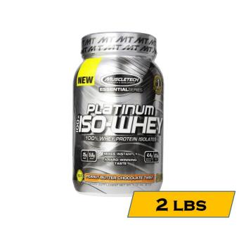 MuscleTech Essentials Platinum ISO Whey Isolate Protein Shake 1.79lbs - Peanut Butter Chocolate