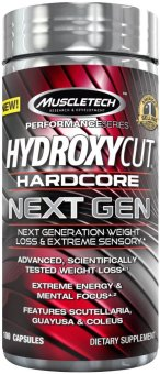 Muscletech Hydroxycut Hardcore Next Gen Capsules Bottle of 100