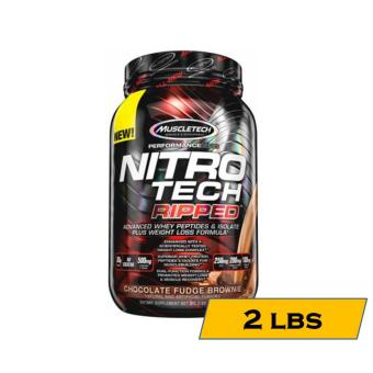 Muscletech Nitro-Tech Ripped: Superior Fat-Burning Whey Protein - 2lbs - Chocolate Fudge Brownie