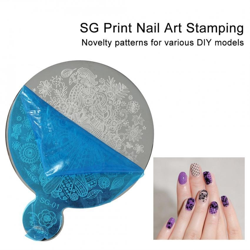 Philippines Nail Art Stamping Fashion Mirror Flower Manicure