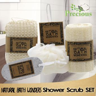 Natural Bath Wonders Shower Scrub SET (4 Different Body Scrubs) Price Philippines