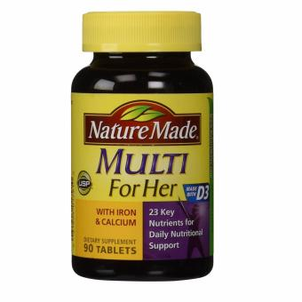 Nature Made Multi For Her Vitamin & Mineral Tablets, 90 count Price Philippines