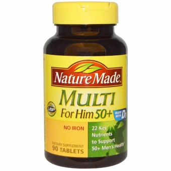 Nature Made Multi for Him 50+ Multiple Vitamin and MineralSupplement Tablets, 90-Count Price Philippines