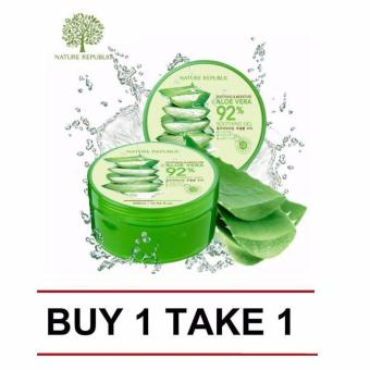 Nature Republic Soothing and Moisturizing Aloe Vera 92 Soothing Gel300ml (Buy 1 Take 1)