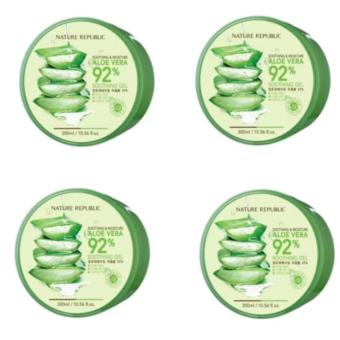 Nature Republic Soothing And Moisturizing Aloe Vera Gel 300ml Set Of 4