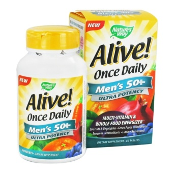 Nature's Way Alive! Once Daily Men 50+ Multi-Vitamins 60tablets Price Philippines