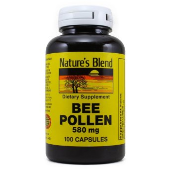 Nature's Blend Bee Pollen 580 mg, 100 Capsules