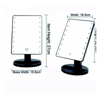 New 2017 Best Quality Bright Light Make Up Vanity IlluminatedDesktop Table Makeup Stand Mirror with 16 LED Light (Black) - 2