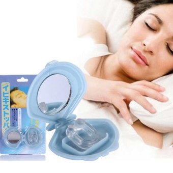 New Anti Snoring Silicon Free Nose Clip Snore Stopper Device Health Sleeping Aid - intl