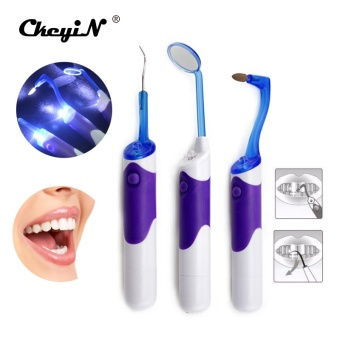 New Arrival Oral Hygiene Super Bright Lighted LED Dental MirrorMouth Mirror kits Tooth Stain Eraser Plaque Remover - intl