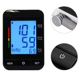New Digital Pulse Upper Arm Blood Pressure Monitor ArterialHypertension Heart Beat Meters - intl