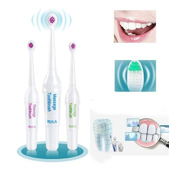 New Fashion Battery Operated Electric Toothbrush with 3 Brush Heads Oral Hygiene Health Products - intl