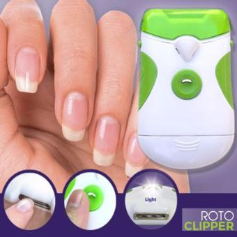New Nail File System ROTO CLIPPER Electric Nail Trimmer Nail FileManicure Pedicure Set Machine Nail Tools White/Green