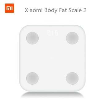 New Original Xiaomi Mi Smart Scale 2 Mifit APP & BodyComposition Monitor Body Fat BMR Test Hidden LED Display And BigFeet Pad