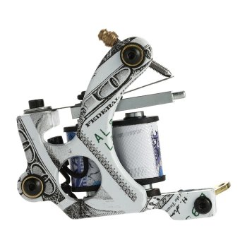 New Pro Tattoo Machine Shader Liner 10 Wrap Coils Tattoo InstrumentTattoo Accessories - intl