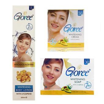 New Proven Effective Goree Beauty Soap, Cream and Lotion Set - 100%Original (Set of 3)