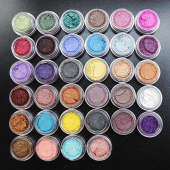niceEshop 30 Pcs Mixed Color Glitter Loose Powder Eye Shadow Makeup Cosmetics Eye Shadow For Party,Wedding,Fashion Show - intl - 2