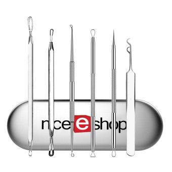 niceEshop 6 Pcs Professional Blackhead Remover Tool Set Acne Pimple Comedone Blemishes Extractor Kit for Facial Skin Care