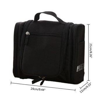 niceEshop Portable Hanging Toiletry Bag Waterproof Travel Kit Organizer Cosmetic Bag Toiletry Bag With Hanging Hook - intl - 2