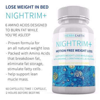 NIGHT TIME WEIGHT LOSS SUPPLEMENT, Nightrim+ Diet Pills, Burn Fat, Belly Fat, Lose Weight while asleep, PM Fat Burner, Sleep Aid - l arginine, ornithine, l lysine, glutamine - 60 Caps
