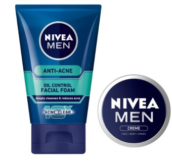 NIVEA Men Anti Acne Facial Foam with FREE NIVEA Men Creme 30ml