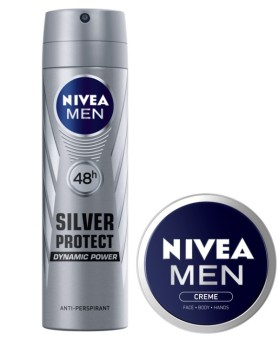 NIVEA Men Silver Protect Spray with FREE NIVEA Men Creme 30ml
