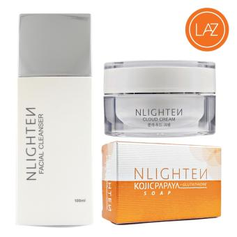NLIGHTEN ACNE SET ( NLIGHTEN Cloud Cream, NLIGHTEN Kojic PapayaSoap, NLIGHTEN Facial Cleanser )