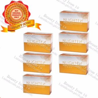 Nlighten Kojic Papaya soap with Glutathione Soap 135g Set of 6
