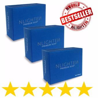 NLIGHTEN Premium Nourishing Soap with Argan Oil, Aloe Vera andCollagen (Pack of 3) Price Philippines