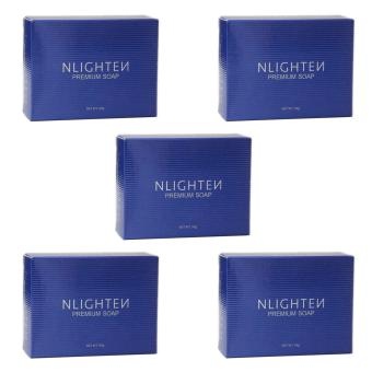 NLIGHTEN Premium Nourishing Soap with Argan Oil, Aloe Vera andCollagen (Pack of 5) Price Philippines
