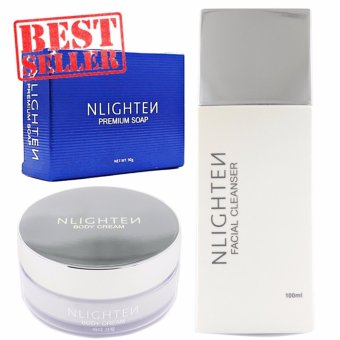 NLIGHTEN SET FOR MELASMA / SCARS ( BODY CREAM, FACIAL CLEANSER,PREMIUM SOAP )