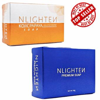 Nlighten Whitening and Moisturizing Soap Combo (Nlighten KojicPapaya Soap with Glutathione, Nlighten Premium Soap with Argan Oil,Aloe Vera and Collagen)