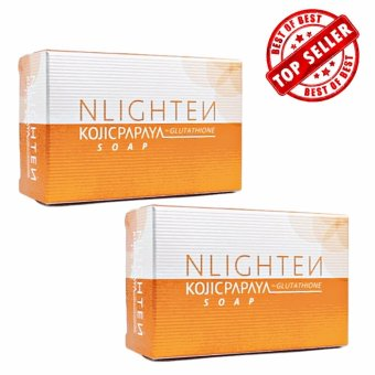Nlighten Whitening Soap (Nlighten Kojic Papaya Soap withGlutathione set of 2)
