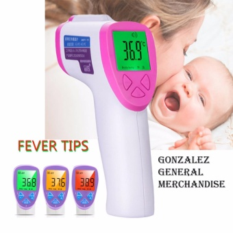 Non-contact Infrared LCD Multi-functional Digital Thermometer (White-Pink)
