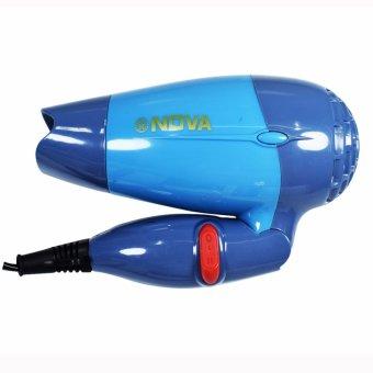 NOVA N 662 Blue Foldable Mini Travel Hair Dryer Compact