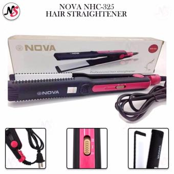 Nova NHC-325 Professional Hair Straightening Iron(Black/Pink)