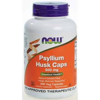Now Foods Psyllium Husk Caps 500mg Bottle of 200