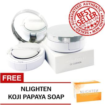 Nworld Nlighten CC Cushion with FREE Nlighten Kojic Papaya with Glutathione Soap