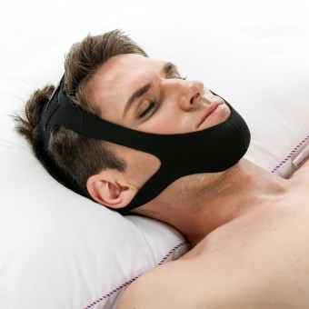 Nylon Anti Snore Chin Strap Easy Sleep Adjustable Stop Snoring Strap