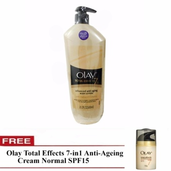 Olay Total Effects 7 in One Advanced Anti-aging Body Lotion600ml-Imported with free Olay Total Effects 7-in1 Anti-Ageing CreamNormal SPF15