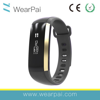 OLED Oximeter Blood Pressure Heart Rate Monitor Bluetooth Sport Smart Bracelet Watch IP67 Waterproof Black - intl