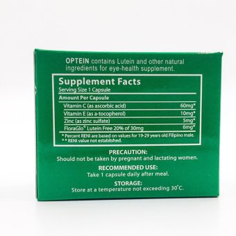 Optein lutein capsules for eye-health 50 capsules - 2