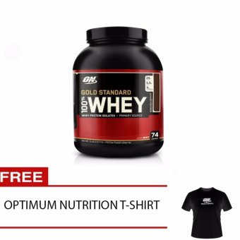Optimum Nutrition 100% Whey Gold Standard Double Rich Chocolate5lbs FREE ON T-SHIRT