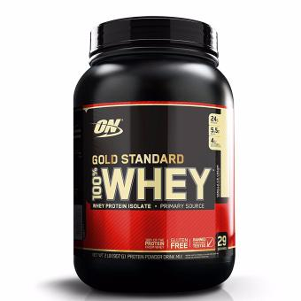 OPTIMUM NUTRITION Gold Standard 100% Whey Protein Powder Drink Mix [2lbs/ 29 servings] - VANILLA ICE CREAM Flavor