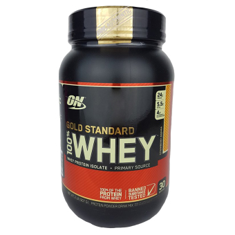 Optimum Nutrition Gold Standard 100% Whey Protein Powder Drink Mix 2lbs/ 30 servings (STRAWBERRY BANANA Flavor)