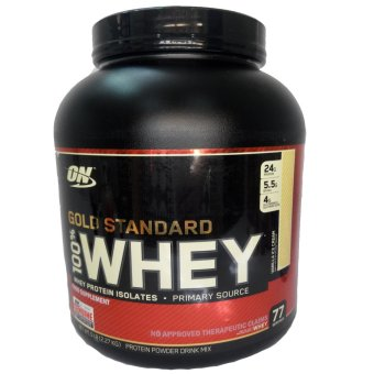 OPTIMUM NUTRITION Gold Standard 100% Whey Protein Powder Drink Mix [5lbs/ 77 servings] - VANILLA ICE CREAM Flavor