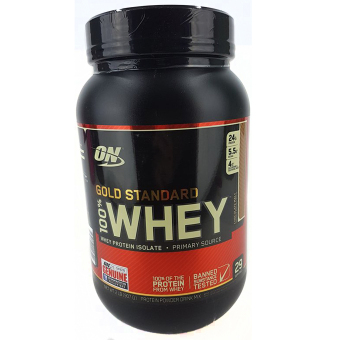 OPTIMUM NUTRITION Gold Standard 100% Whey Protein Powder Drink Mix[2lbs/ 29 servings] - CHOCOLATE MALT Flavor