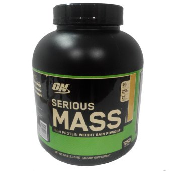 OPTIMUM NUTRITION Serious Mass High Protein Powder Weight-Gain Supplement [6lbs] - BANANA Flavor