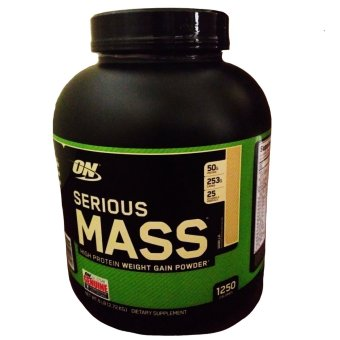 OPTIMUM NUTRITION Serious Mass High Protein Powder Weight-Gain Supplement [6lbs] - VANILLA Flavor