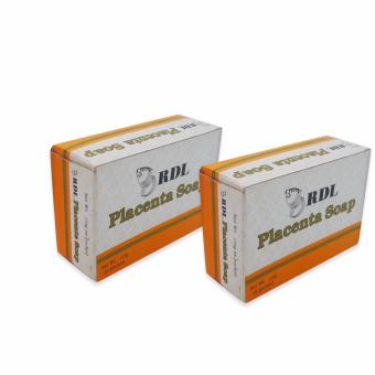 Orange/Cream RDL Placenta Soap 135g. 2's 740663 w48 (SP)